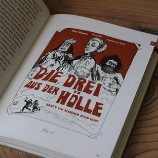 Illustrierte Innenseite des Buches, Foto: Simon Keller