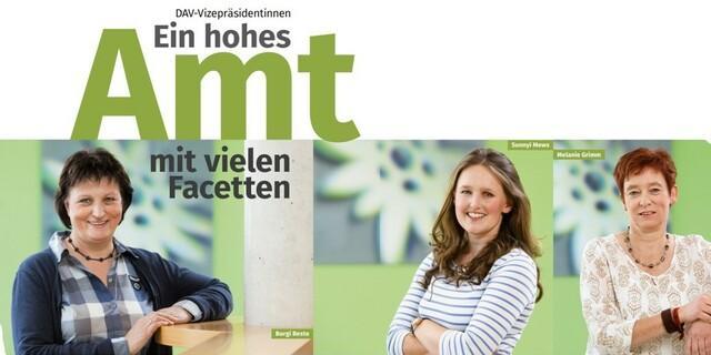 Burgi Beste, Sunnyi Mews und Melanie Grimm, Foto: DAV/Tobias Hase
