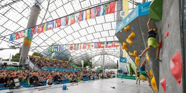Boulder-Weltcup 2017 im Münchner Olympiastadion, Foto: DAV/Marco Kost