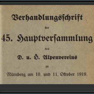 20180822 Jubiläum Deckblatt 45.Hauptversammlung DuOEAV