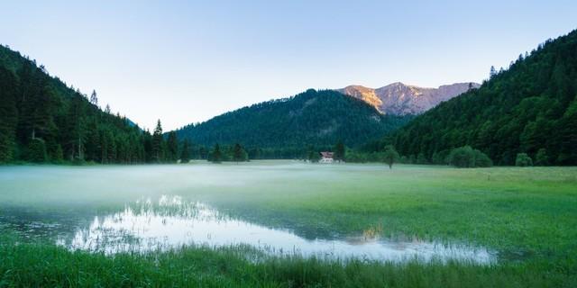 Aktion Schutzwald - Den Tag im Einklang mit der Natur beginnen, Foto: DAV/Arvid Uhlig