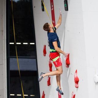 Linus Bader gewinnt Speed. Foto: DAV/Marco Kost