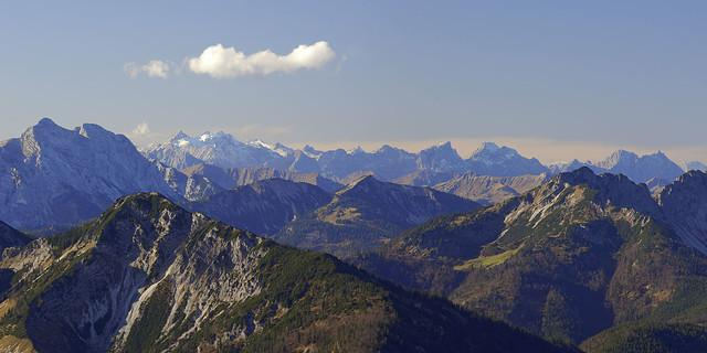 Panorama Mangfallgebirge, Foto: Strauß