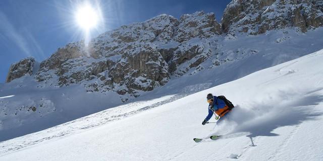 Traumabfahrt vom Tschagerjoch ins Val de Vaiolet. Foto: Stefan Herbke