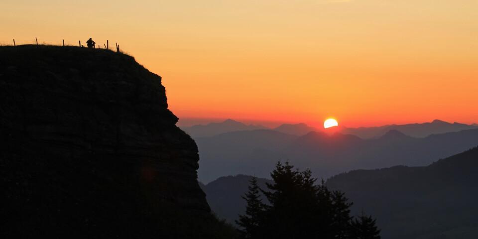 Sonnenaufgang an der Ebenalp – wunderschöner Beginn eines traumhaften Tages im Alpstein! Foto: Silvia Schmid