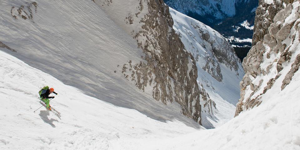 … bevor sie die steile Abfahrt nach Ehrwald fortsetzen können. Foto: Thilo Brunner