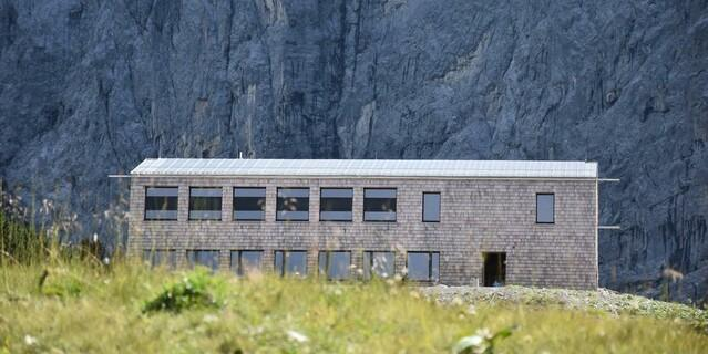 Neubau des Horst-Wels-Hauses, Foto: DAV-Sektion Oberland, Dominik Sinhart
