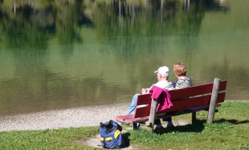 Pause am Vilsalpsee, Oesterreich