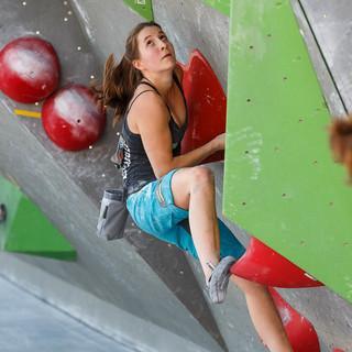 Lilli Kiesgen beim Boulderweltcup 2016 in München | Foto: DAV/Marco Kost