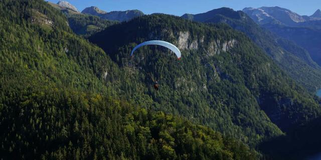 Nach zehn Tagen und 287 Kilometern über dem Nationalpark Berchtesgaden. Foto: Till Gottbrath