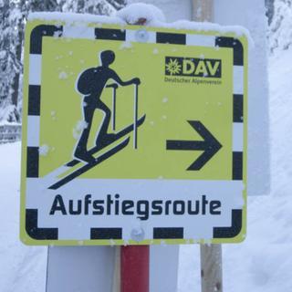 Aufstiegsroute Skitourengehen auf Pisten