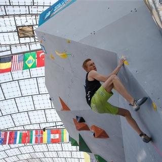 Alex Averdunk auf dem Weg zum Top. Foto: DAV/Marco Kost