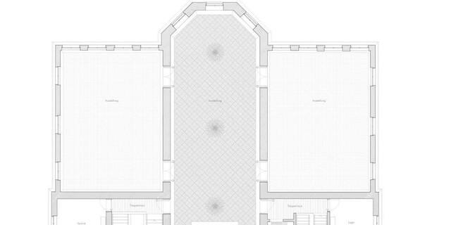 300 Quadratmeter zusammenhängende Sonderausstellungsfläche in 3 Sälen. Foto: Feil Architekten