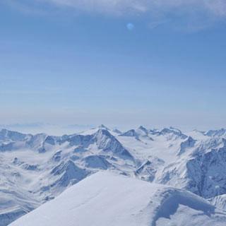 Gipfelgrat an der Wildspitze - Der zweithöchste Grat Österreichs. Für die östliche Abfahrtsvariante muss man die Wildspitze überschreiten.