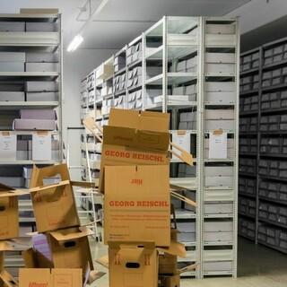 Wiederaufstellung des Archivs. Aufnahme: Stefan Ritter/DAV