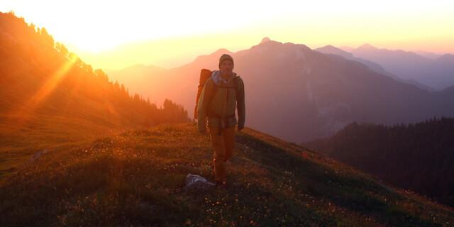 Sonnenaufgang am Klausen, Chiemgauer Alpen. Foto: Michael Pröttel