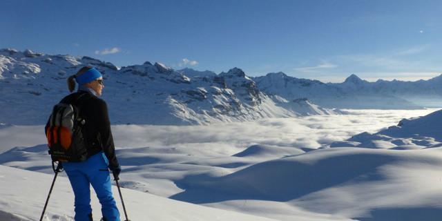 Doris Krah auf Skitour
