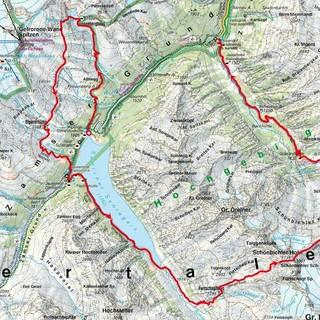 Kartenausschnitt der Zillertaler Runde, Quelle: DAV