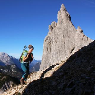 Auch der Aufstieg zum Stadelhorn war am gestrigen Mittwoch komplett schneefrei. Foto: DAV/Pröttel