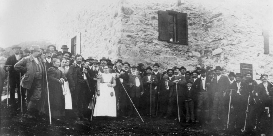 Eröffnung des Taschachhauses, 1899. Archiv des DAV, München