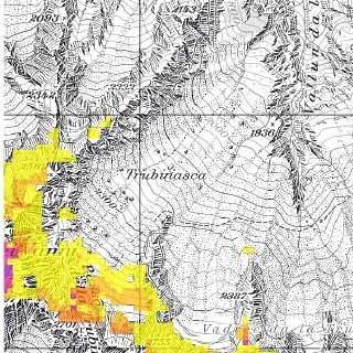 Permafrostvorkommen am Piz Cengalo, Quelle: Bundesamt für Umwelt BAFU der Schweiz