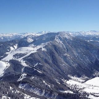Wendelstein-Gipfelblick auf Bayrischzell. Foto: Nadine Ormo