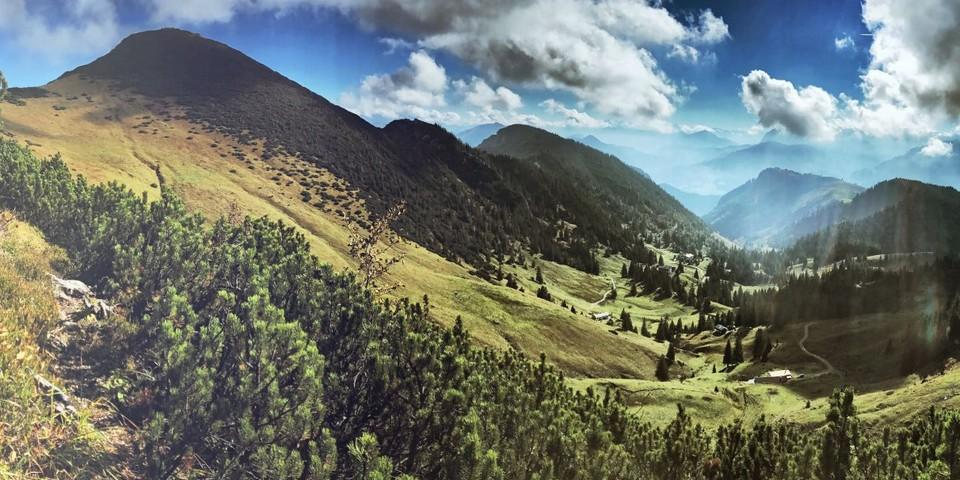 Ausblicke vom Geigelstein. Foto: Herbert Reiter