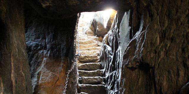 Diese Stufen an der Heuscheuer führen zu keinem Heuboden hinauf. Foto: Swen Geißler