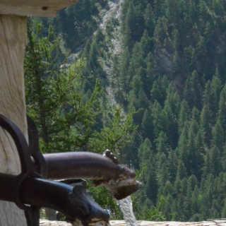 Und wenn gerade kein Fluss in Reichweite ist, tut es auch ein Brunnen. Foto: Solveig Michelsen