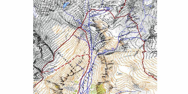 Anhand dieses Kartenausschnitts zeigen wir euch exemplarisch, wie die hydrologischen Informationen herausgearbeitet werden.