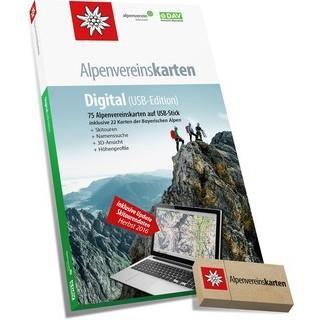 Kartenupdate der Alpenvereinskarten Digital (USB-Edition), 2019.