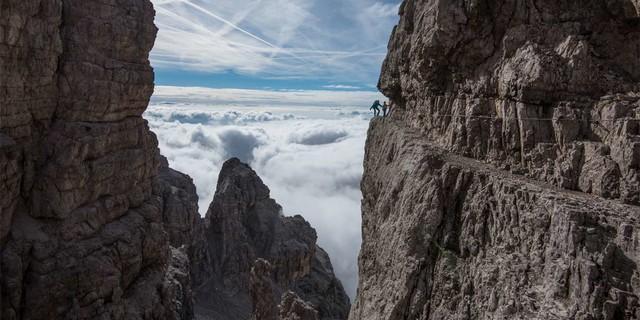 """Über den Wolken auf dem """"Bocchette Centrale"""", Foto: Ralf Gantzhorn"""