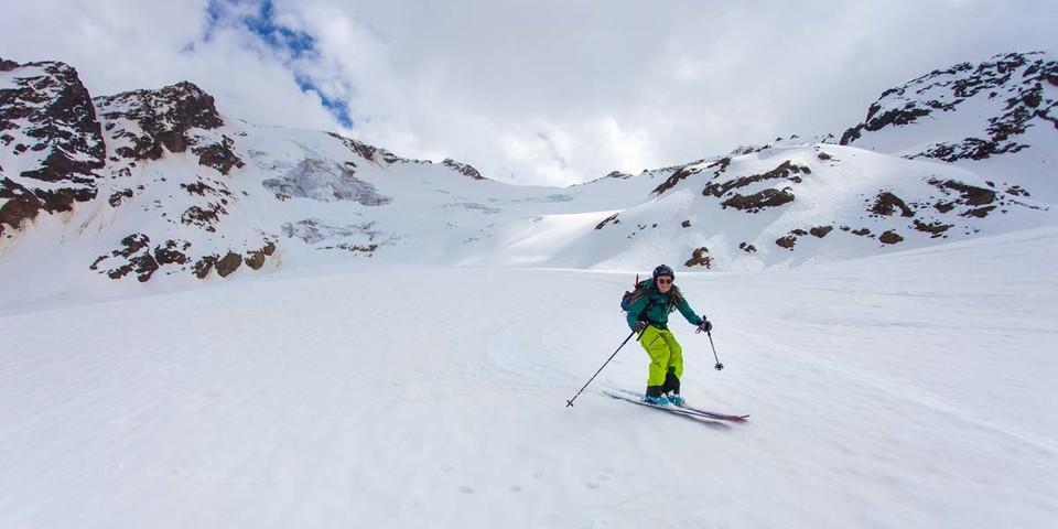 Die Abfahrt von der Weißkugel gehört zu den längsten im Langtauferer Tal. Foto: Markus Stadler