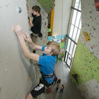 Climbing in Neu-Ulm, Copyright: DAV/Thilo Brunner