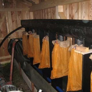 Abwasserreinigung über eine Filtersackanlage, Foto: Archiv DAV