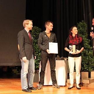 """Juliane Wurm erhält auf der DAV Hauptversammlung in Hamburg den DAV Preis in der Kategorie """"Sport""""."""