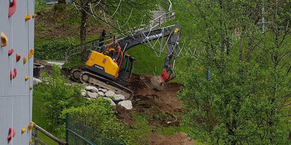 Umbau Vorbereitung Hangweg, 13.05.2020; Bild: Jubi/ Nico Löder