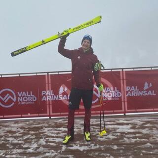 David Sambale freut sich über Silber im Individual der U23 - Foto: STG