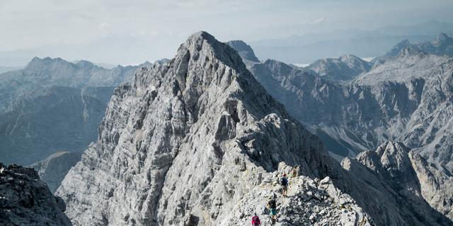 Blick nach Süden über den Watzmanngrat, Foto: Hans Herbig