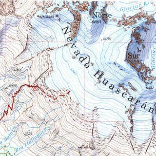 Kartenauschnitt Cordillera Blanca Nord (0/3a)