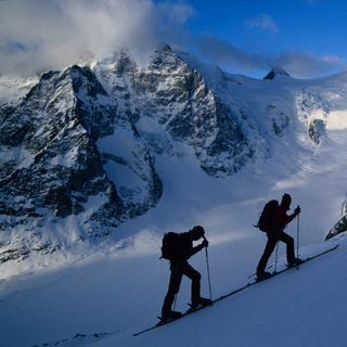 Aufstieg im Gletscherbereich, Schinhorn, Berner Alpen, Schweiz