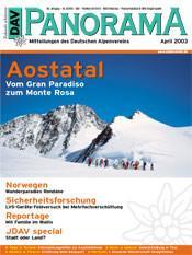 DAV Panorama 2/2003 Aostatal