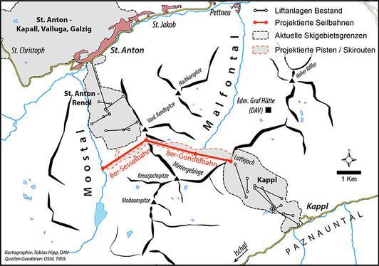 Genehmigt: der Zusammenschluss von St. Anton/Rendl und Kappl im Paznauntal soll durch Moostal und Malfontal erfolgen