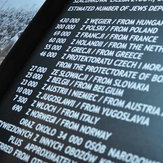 Museum Auschwitz: Anzahl der ermordeten Juden in Auschwitz&#x3B; (c) Jonas Freihart