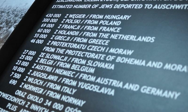 Museum Auschwitz: Anzahl der ermordeten Juden in Auschwitz; (c) Jonas Freihart