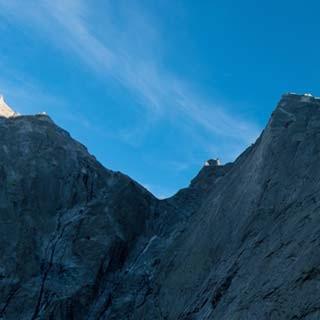 <p>Schön war's: Nach Abseilen über die Nordkante schaut man gerne auf die Badile-Nordostwand zurück.</p>  <p>Foto: Ralf Gantzhorn</p>