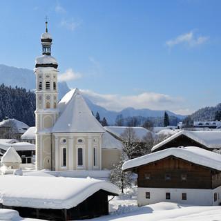 Das Dorf Sachrang in weißer Pracht, Foto: Josef Reiter