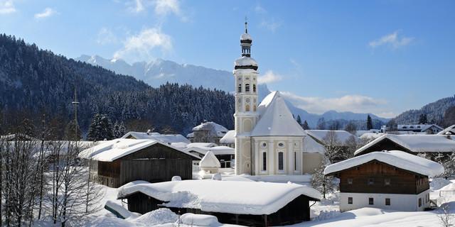 Sachrang im Winter. Foto: Josef Reiter