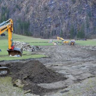 Baustart Kraftwerk Tumpen  (Foto: WWF / Marianne Götsch)