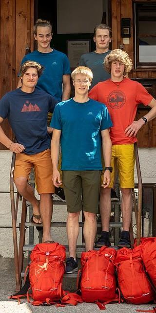 Frisch ausgestattet und bereit für die ersten Abenteuer: Der neue Exedader Männer. Foto: DAV / Silvan Metz